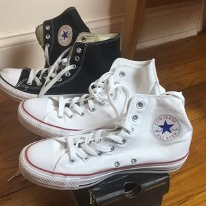 Bundle of converse high top sneakers size 8.5